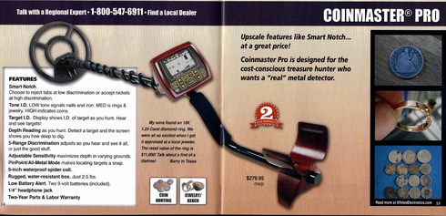 White's Coinmaster Pro Metal Detector