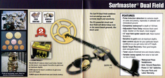 White's Surf Master P.I. Dual Field Metal Detector