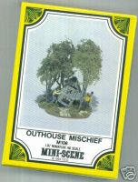 Woodland Scenic M108 Mini-Scene Outhouse Mischief