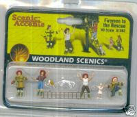 Woodland Scenic Accents A1882 Firemen To The Rescue Ho
