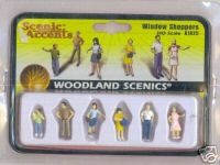 Woodland Scenic Accents A1825 Window Shoppers HO