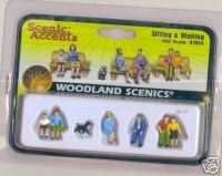 Woodland Scenic Accents A1834 Sitting & Waiting HO