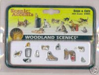 Woodland Scenic Accents A1841 Dogs & Cats HO