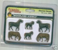 Woodland Scenic Accents A1842 Chestnut Horses Ho
