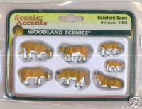 Woodland Scenic Accents A1843 Hereford Cows HO