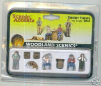 Woodland Scenic Accents A1848 Checker Players HO