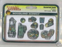 Woodland Scenic Accents A1852 Assorted junk 10pcs HO