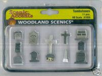 Woodland Scenic Accents A1856 Tombstones Ho