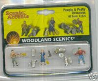 Woodland Scenic Accents A1875 People/Pesky Raccoons HO