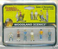 Woodland Scenic Accents A1880 Game Of Horseshoes HO