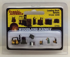 Woodland scenics A2208 loading dock details N scale