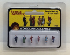 Woodland scenics A2210 people walking N scale