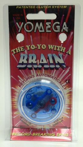Yomega Brain Yo-Yo Clear with Blue center
