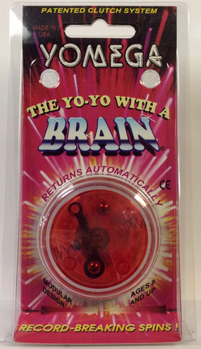 Yomega Brain Yo-Yo Clear with Red center