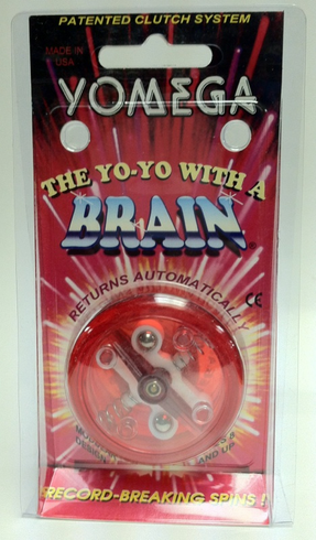 Yomega Brain Yo-Yo Red with Clear center