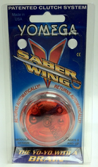Yomega Saber Wing Yo-Yo Clear with red center