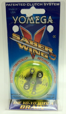 Yomega Saber Wing Yo-Yo fluorescent green (yellow) with clear center