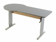 Accella Endzone Sit-to-Stand Workstation w/ Hand Crank Adjustment