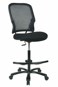 Big and Tall Double Dark AirGrid Back Drafting Chair with Black Mesh Seat