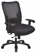 Big & Tall Double Air Grid Back & Mesh Seat Ergonomic Chair with Built-in Adjustable Lumbar Support