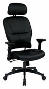 Bonded Leather Seat and Back Managers Chair with Headrest