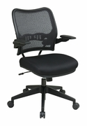 Deluxe Dark AirGrid Back Chair with Black Mesh Seat