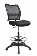 Deluxe Dark AirGrid Back Drafting Chair with Black Mesh Seat