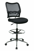 Deluxe Dark AirGrid� Back Drafting Chair with Chrome Finish Base