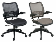 Deluxe Dark AirGrid Seat and Back Chair with Cantilever Arms
