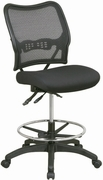 Deluxe Ergonomic Air Grid Back & Mesh Seat Drafting Chair with Dual Function Control