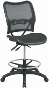 Deluxe Ergonomic Air Grid Back & Seat Drafting Chair with Dual Function Control