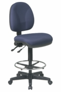 Deluxe Ergonomic Drafting Chair with Seat and Back Angle Adjustments