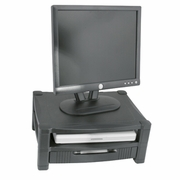 Double Level Adjustable Monitor Stand with Drawer