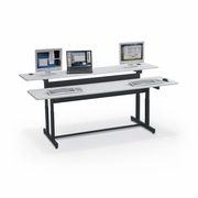 Double User Ergonomic Computer Workstation