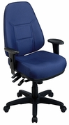 Ergonomic High Back Chair with Ratchet Back Height Adjustment