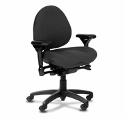 "Ergonomic Mid Back Task Chair with Contoured Seat <font color=""red"">See all Styles</font>"