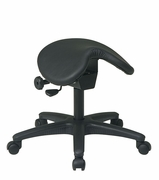 Ergonomic Saddle Seat Stool w/ Seat Angle Adjustment