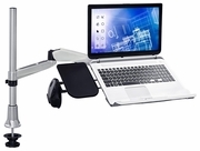 Full Motion Articulating Arm Mount withVented Cooling Fan Laptop Stand & Mousepad
