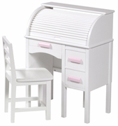 Guidecraft Roll Top Desk - White
