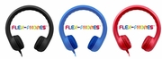 HamiltonBuhl Flex-Phones™, Foam Headphones, Black, Blue, Red