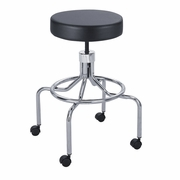 High Base Lab Stool with Screw Lift