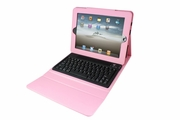 iPad Case with Built in Bluetooth Keyboard - Pink