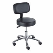 Pneumatic Lift Lab Stool with Back