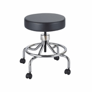 Low Base Lab Stool with Screw Lift