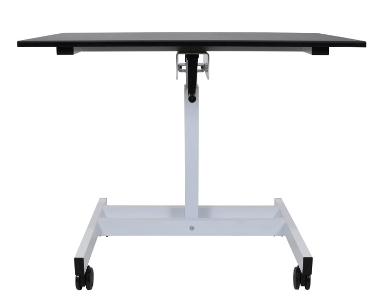 click to enlarge luxor single column crank adjustable stand up desk