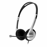 MACH-1 Multimedia USB Headset - Steel Reinforced Gooseneck Mic and In-Line Volume