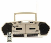 Music Maker Plus Dual Cassette Multimedia Player