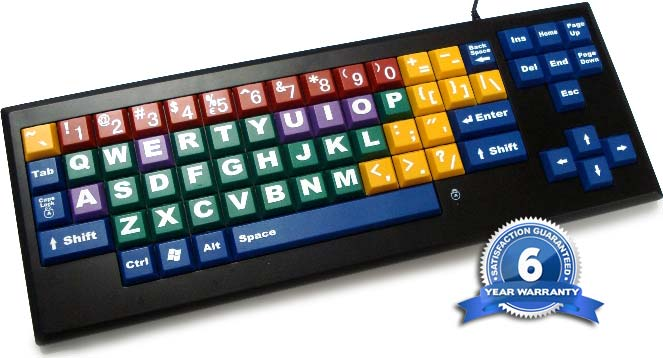 myboard uc color coded wired keyboard with big keys and With big letter keyboards computer