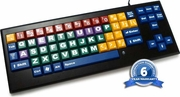MyBoard-UC Color coded wired keyboard with big keys and uppercase letters