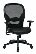 Professional Breathable Mesh Back Chair with Eco Leather Seat